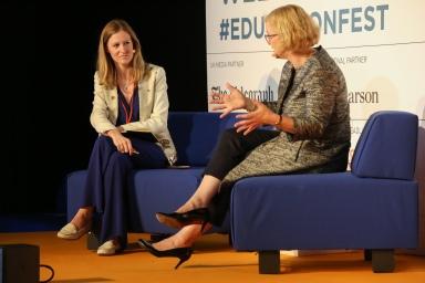 Amanda Spielman and Laura Mcinerney Festival of Education Edit -2892